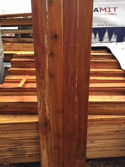 1 215 4 5 3 Cedar Fence Board 171 Mill Outlet Lumber