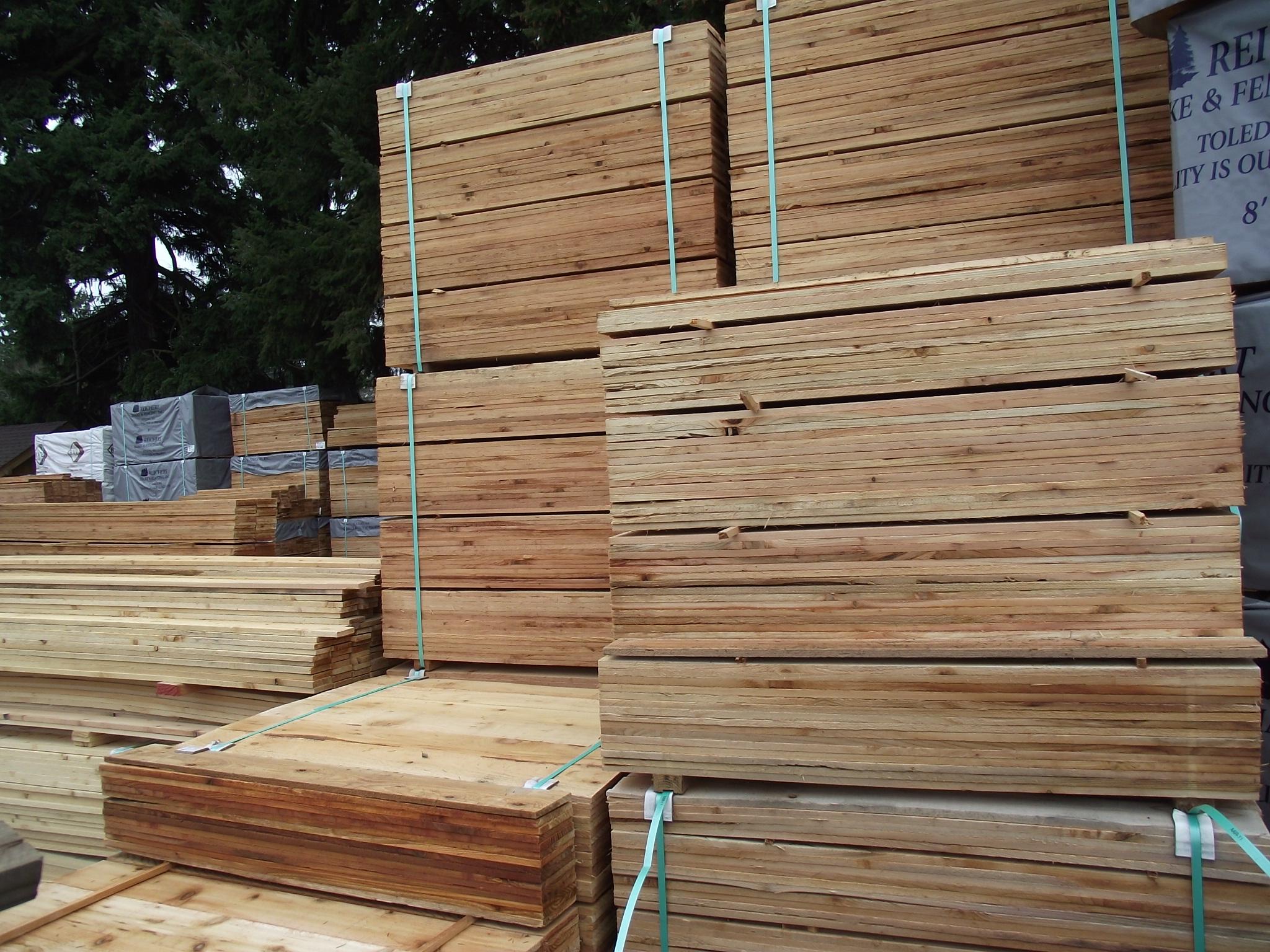 1 215 4 4 3 Cedar Fence Board 171 Mill Outlet Lumber