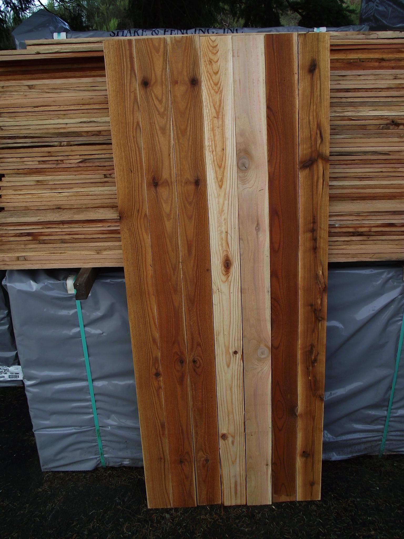 1 215 4 6 3 Cedar Fence Board 171 Mill Outlet Lumber