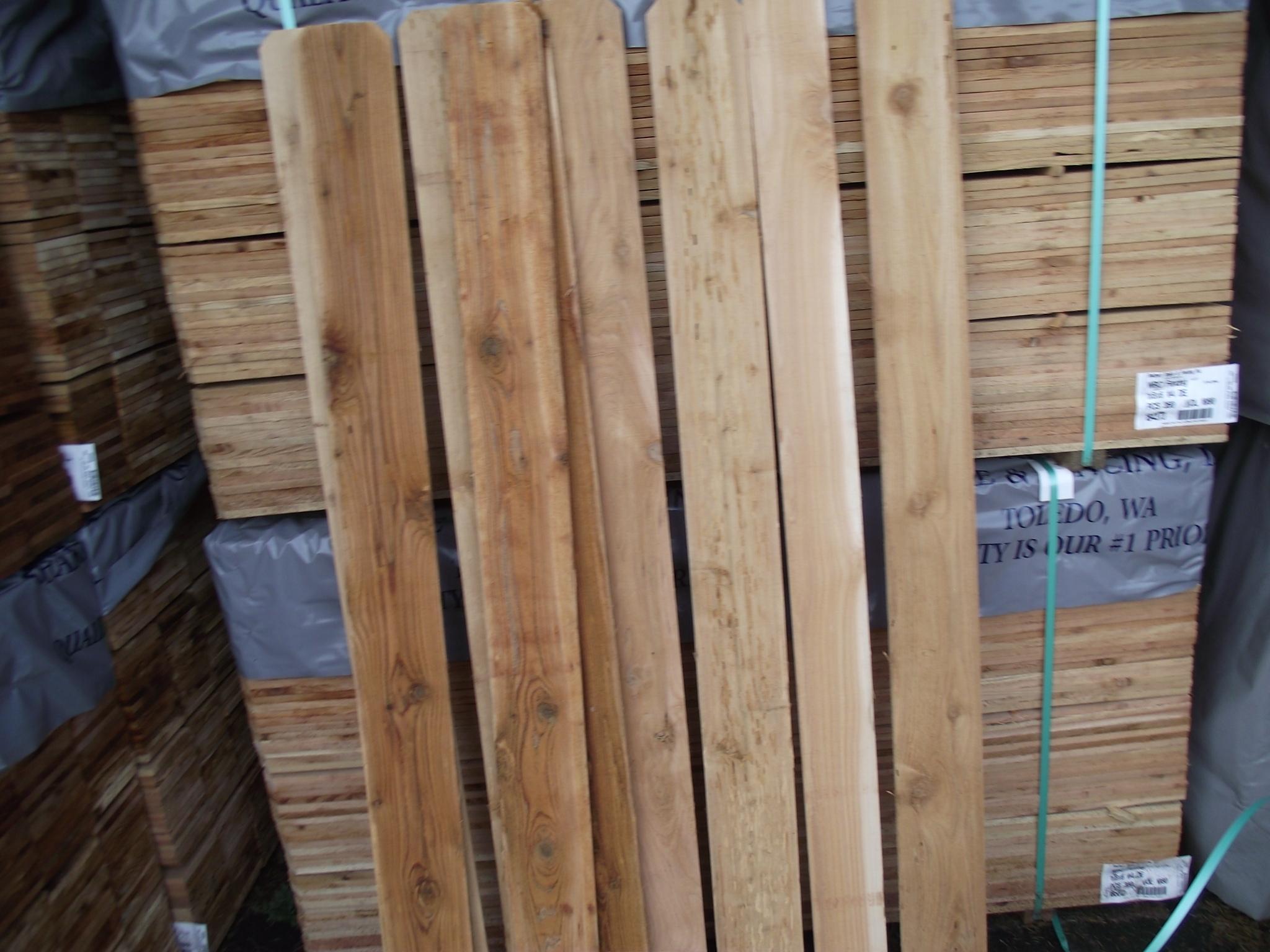 1 215 6 6 4 W H Cedar Fence Board Dog Ear Top 171 Mill Outlet