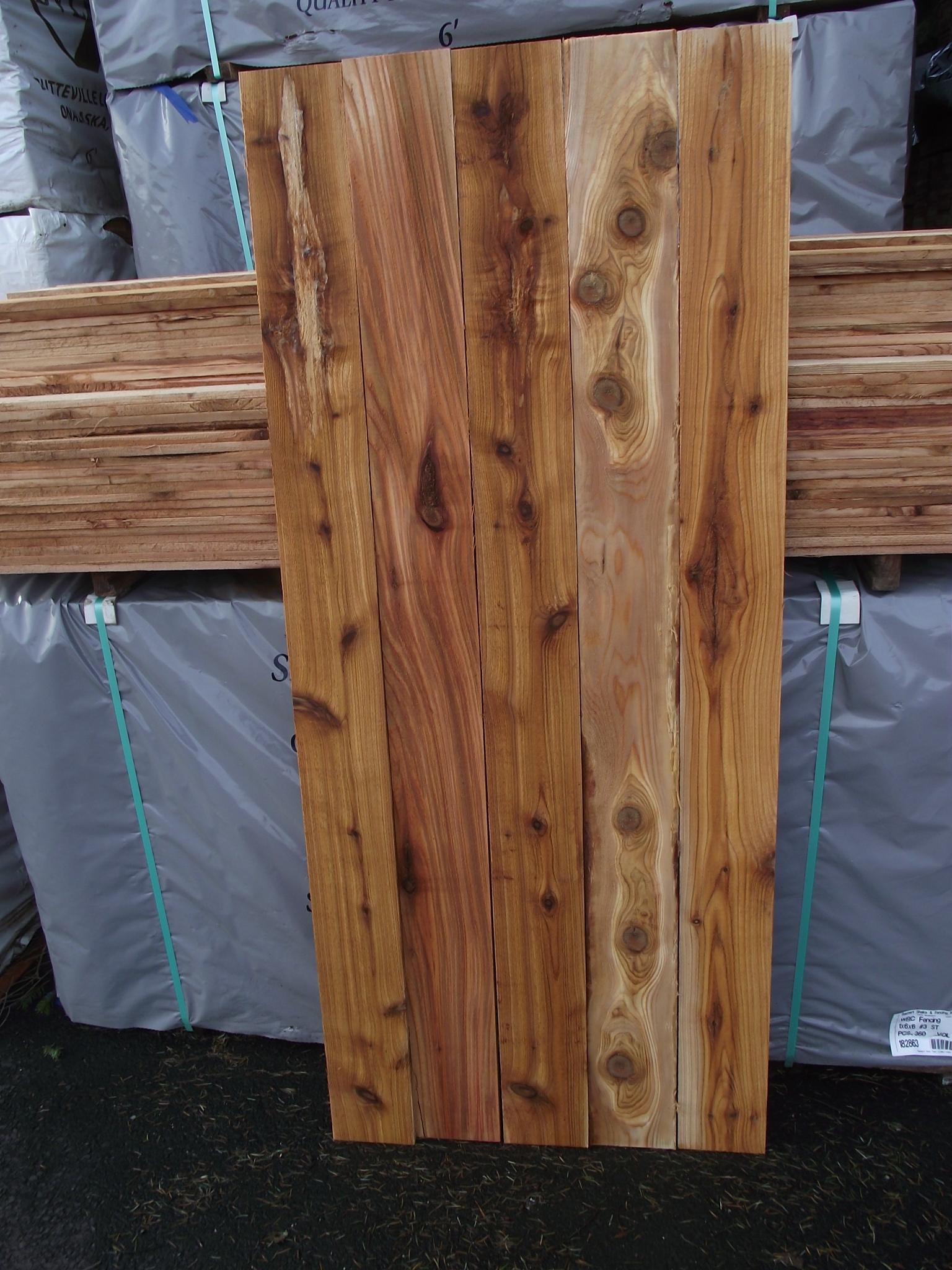 1à 6 6 3 cedar fence board mill outlet lumber
