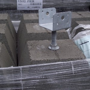 12 Pier Block With 4 215 4 Hot Dipped Galvanized Adjustable