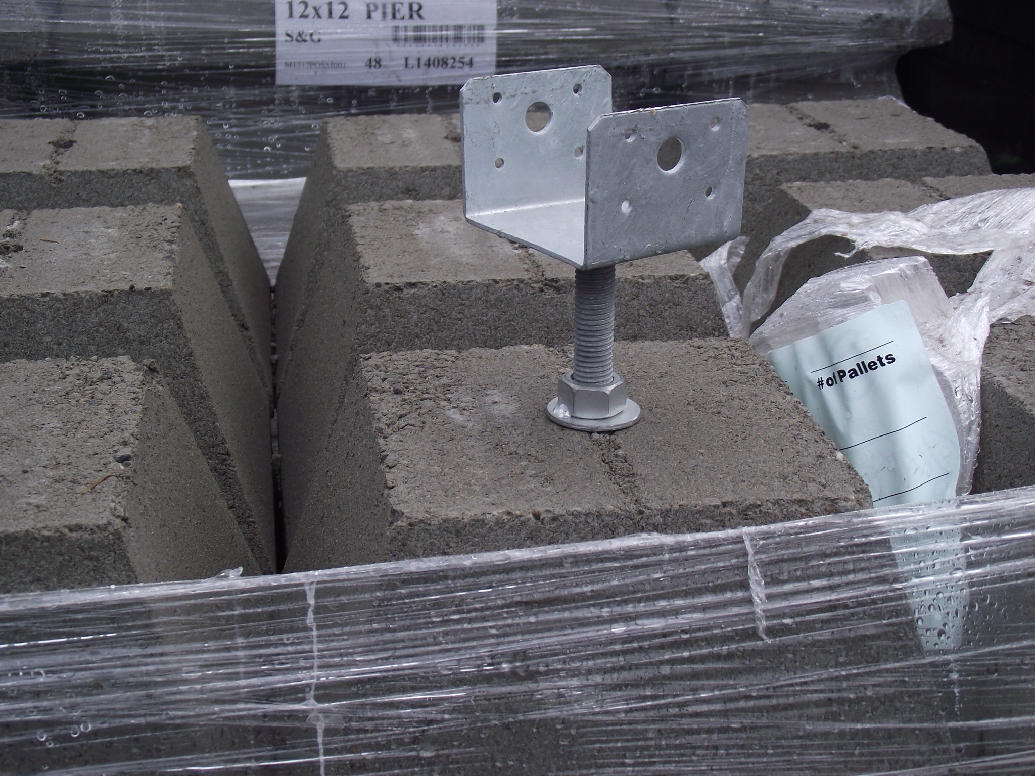 12 Pier Block With 4 4 Hot Dipped Galvanized Adjustable