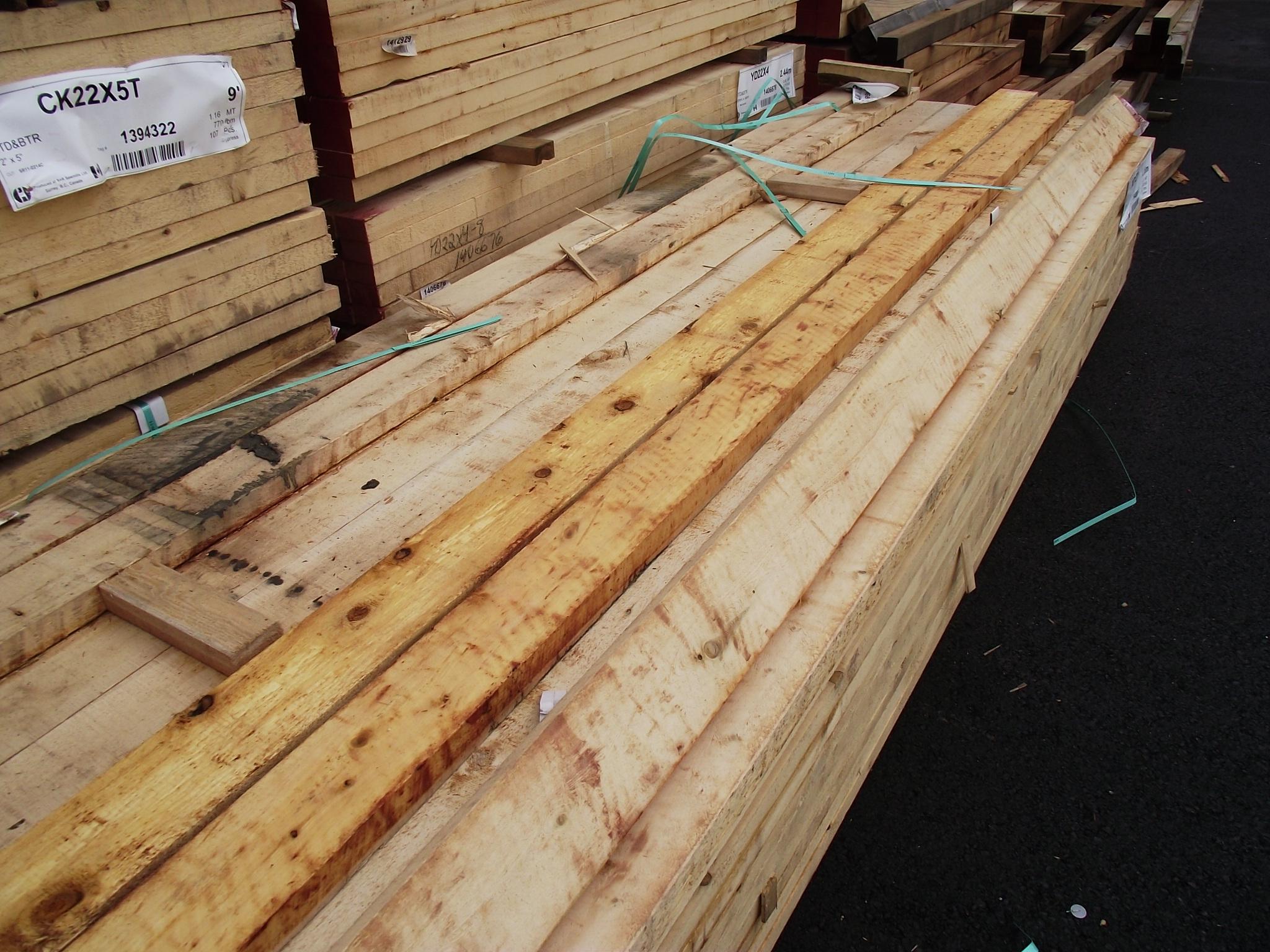 Cedar Wood Lumber ~ Alaskan yellow cedar rough appearance grade « mill