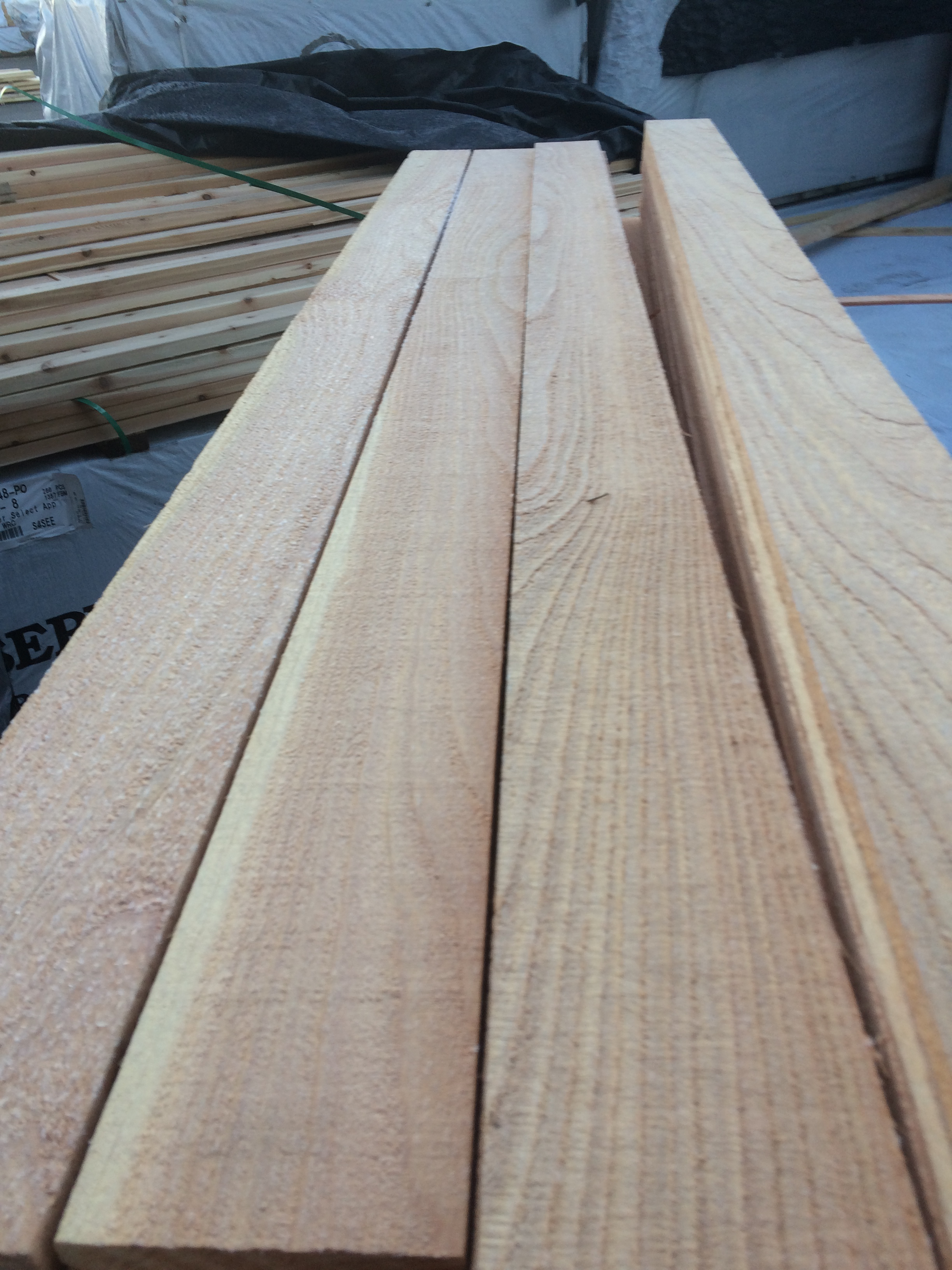 Mill outlet lumber for Cedar flooring