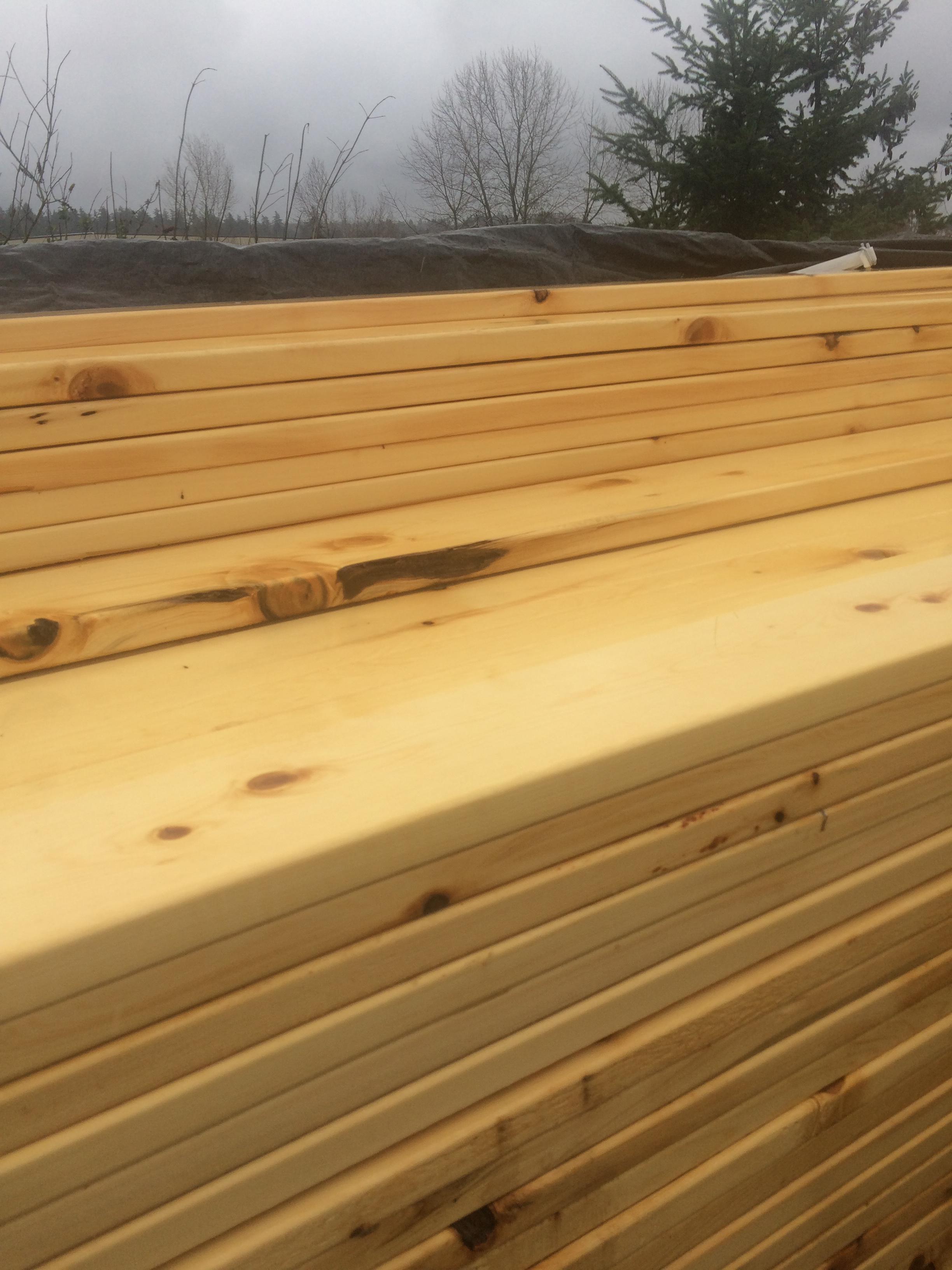 Alaskan Yellow Cedar Rough Utility Grade 2x6 171 Mill