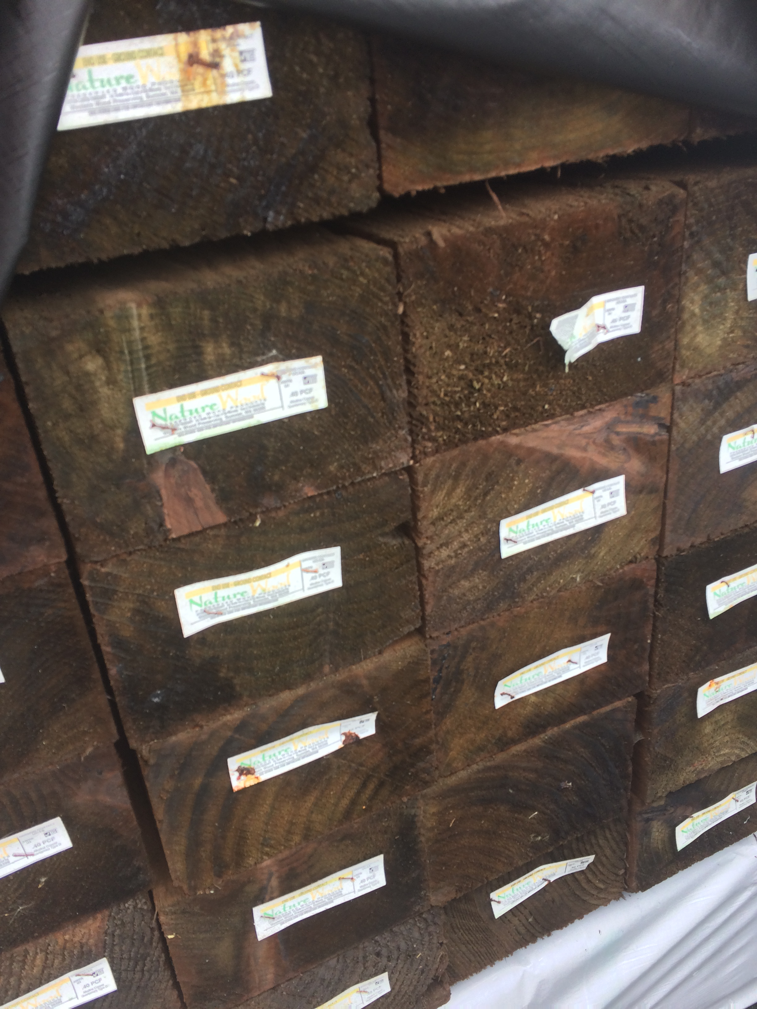 4 215 6 8 Pressure Treated Landscape Timber 171 Mill Outlet Lumber