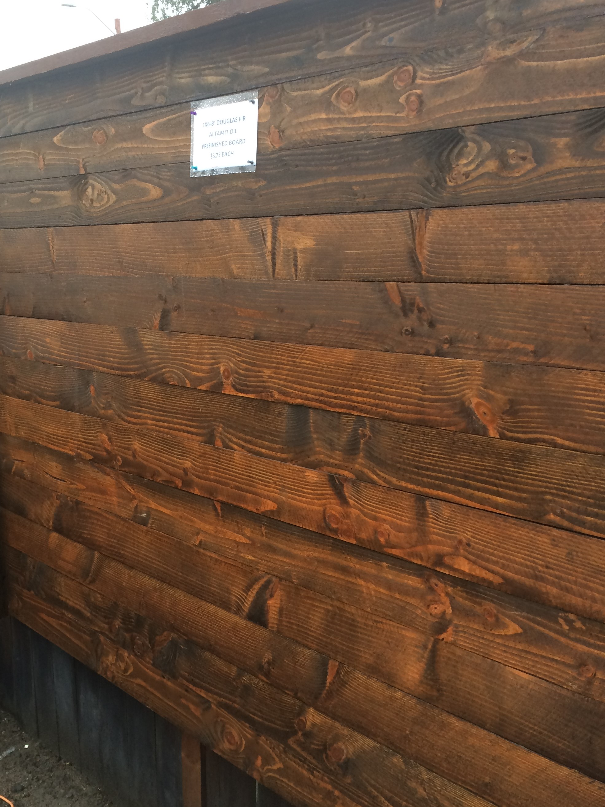 1 215 5 1 2 8 Pre Stained Douglas Fir Altamit Fence Board