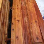 "1"" Select Knotty Cedar Boards"