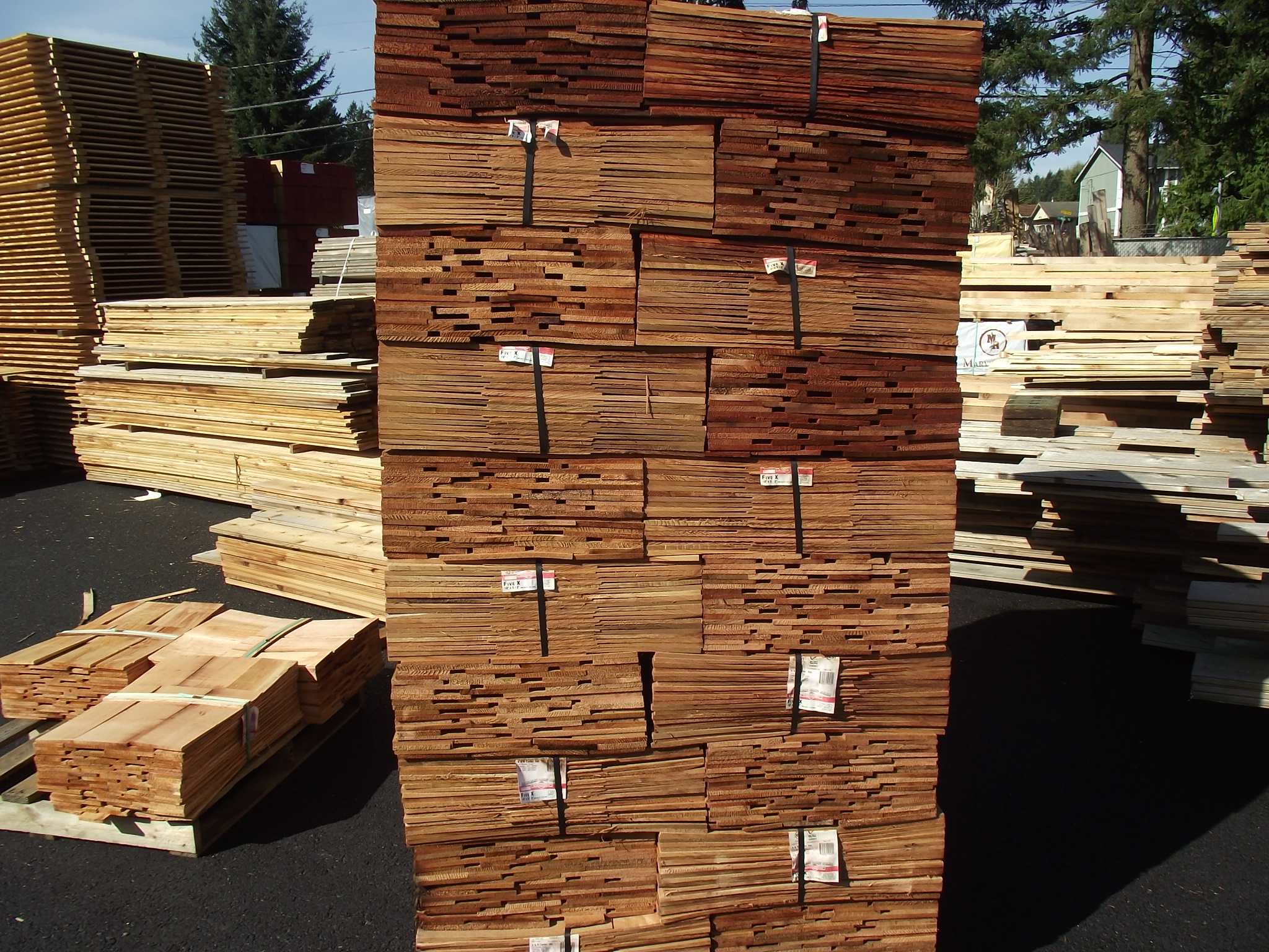 Western Red Cedar Shingles 2 Grade 171 Mill Outlet Lumber
